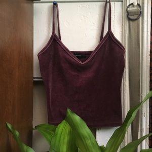 Purple Forever21 velvet Cami